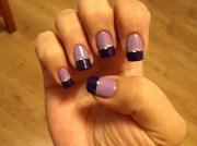 2-tone purple - nail art