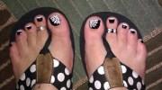 halloween toes - nail art