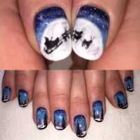 Hand Painted Christmas Nails - Nail Art Gallery