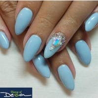 Ice Blue Nails - Nail Art Gallery
