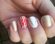 pretty christmas nails - nail art
