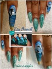 closer-beachy - nail art