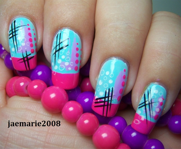 Funky Abstract Nail Design