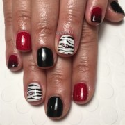 mummy halloween gel manicure