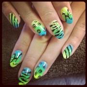 gel gradient - nail art