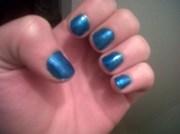 metallic blue - nail art