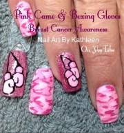 pink camo & boxing gloves - nail