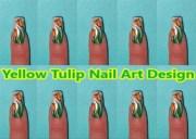 yellow tulip nail art design