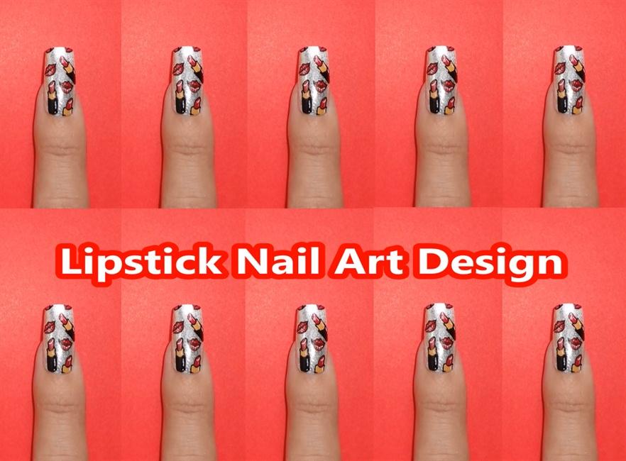Lipstick Nail Art Design Nail Art Gallery Step By Step