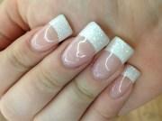 glitter french - nail art