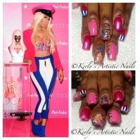 Nicki Minaj inspired nail art design - Nail Art Gallery