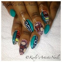 African Beat - Nail Art Gallery