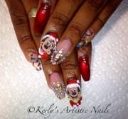christmas nail art - mickey