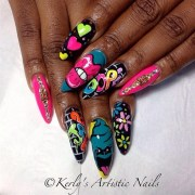 graffiti nail art inspired design