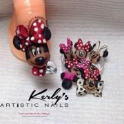 3d minnie mouse nail art