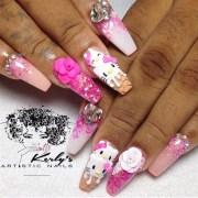 kitty ice cream nails - nail