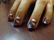 braided nails - nail art