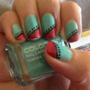 simple tribal nails - nail art