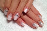 winter white reverse french - nail