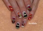 thanksgiving theme - nail art