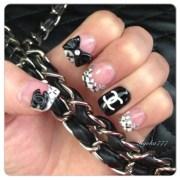 chanel style nails - nail art