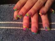 tie dye nails - nail art