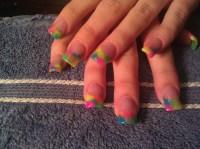 tie dye nails - Nail Art Gallery