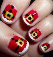 santa's belt - nail art