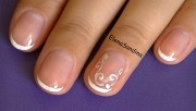 simple bridal nail design