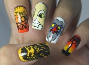 lion king nails - nail art