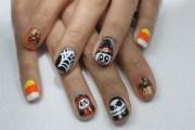 halloween gel nails - nail art