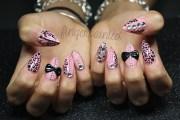 pink rhinestone 3d stilettos