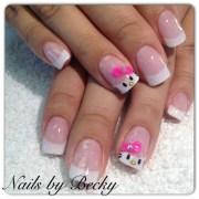 kitty acrylic - nail art