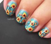 vintage fabric - nail art