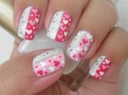 sparkly valentine - nail art