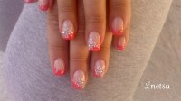 Coral french - Nail Art Gallery