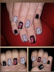 rolling stones nail art