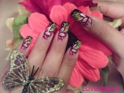 summer bright flower nail art design