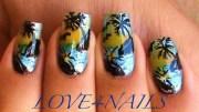 tropical island beach nail art