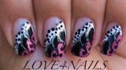 pink black & white dots swirls