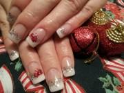 classy christmas - nail art