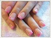 2 tone acrylic marbelling - nail