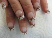 bronze bows. - nail art