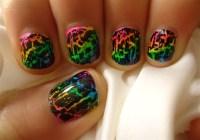 Rainbow Crackle Nail Design - Nail Art Gallery