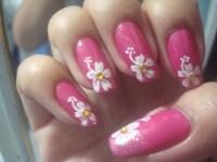 Hawaiian Flower Nail Art - Flowers Ideas For Review