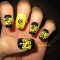 Black and yellow nails nail art gallery