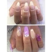 natural nails with hard gel - nail
