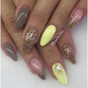 pastel yellow & earl grey - nail
