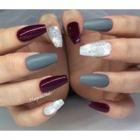 Matte Burgundy Gel Nails | Best Nail Designs 2018