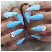 baby blue - nail art